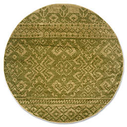 Safavieh Adirondack 8-Foot Round Area Rug in Green/Dark Green