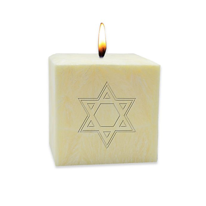 Alternate image 1 for Carved Solutions Eco-Luxury Star of David Pure Aromatherapy 3-Inch Pillar Candle