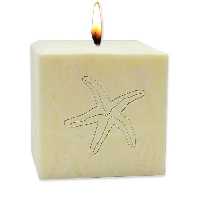 Alternate image 1 for Carved Solutions Eco-Luxury Starfish Citrus Escape 4-Inch Pillar Candle