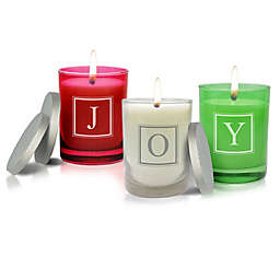 Carved Solutions Gem Collection Joy Candles (Set of 3)