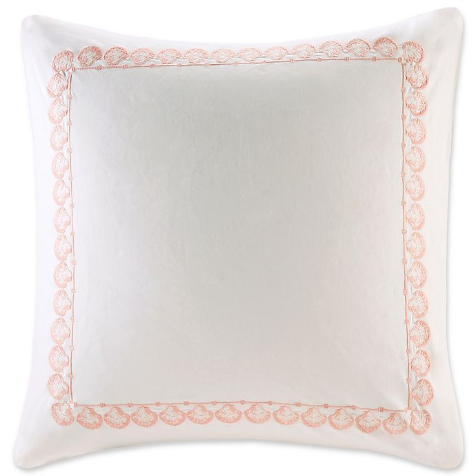 Alternate image 1 for Harbor House Seaside Coral European Pillow Sham in Coral/White