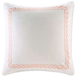 Harbor House Seaside Coral European Pillow Sham in Coral/White