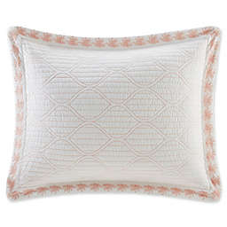 Harbor House Seaside Coral Pillow Sham in Coral/White