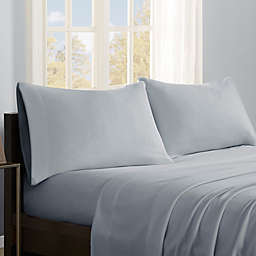 True North by Sleep Philosophy Micro Fleece California King Sheet Set in Grey
