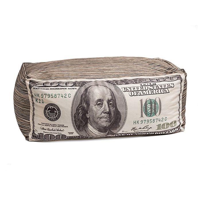 Alternate image 1 for Wow Works $100 Bill Beanbag in Green/White