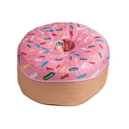 Wow Works Strawberry Donut Beanbag in Pink