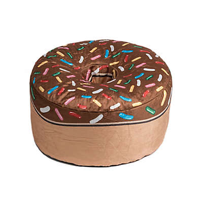 Wow Works Chocolate Donut Beanbag in Chocolate