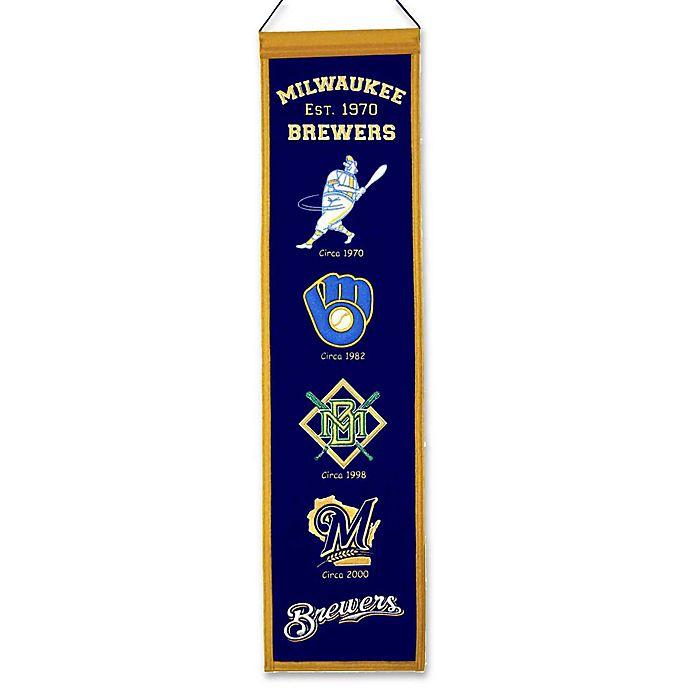 Alternate image 1 for MLB Milwaukee Brewers Vintage Heritage Banner
