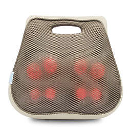 Aurora Health and Beauty 3D Lumbar Back Cushion Massager With Heat in Tan
