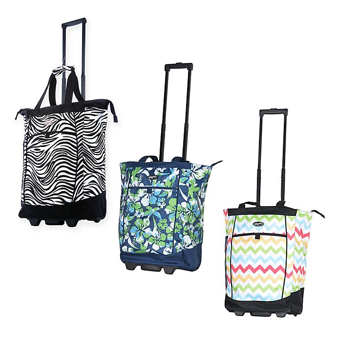 23197329a Olympia® USA Fashionista 20-Inch Rolling Shopping Tote | Bed Bath ...