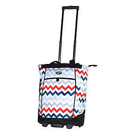 3a00ede82 Olympia® USA Fashionista 20-Inch Rolling Shopping Tote in Chevron/Aspen Blue