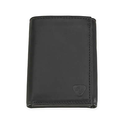 Lewis N. Clark® RFID-Blocking Leather Tri-Fold Wallet in Black