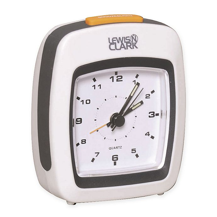 Alternate image 1 for Lewis N. Clark® Analog Alarm Clock in White