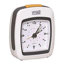 Lewis N. Clark® Analog Alarm Clock in White