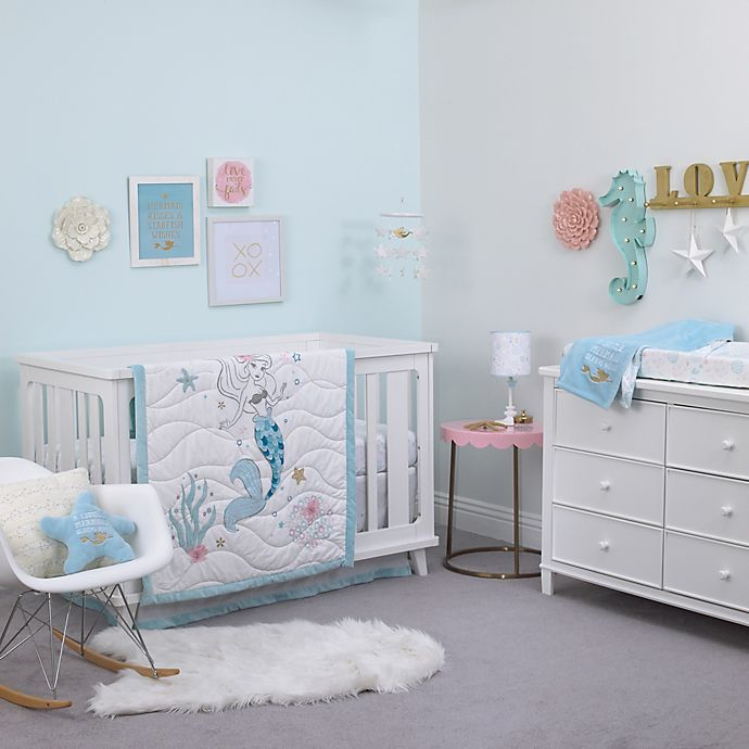 Alternate image 1 for Disney® Ariel Sea Princess Crib Bedding Collection