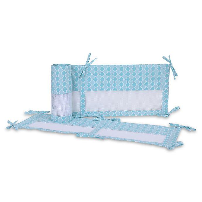 Alternate image 1 for Disney® Ariel Sea Princess Secure-Me Mesh Crib Liner
