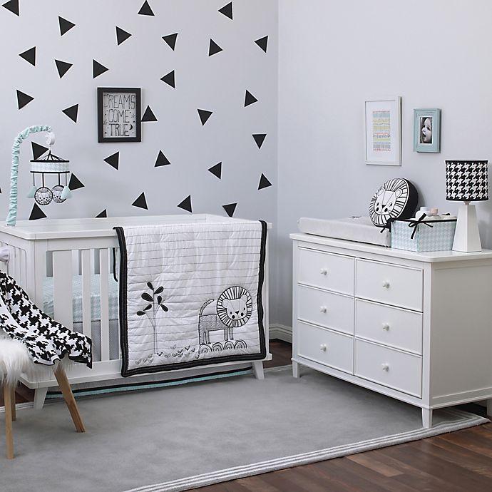 Alternate image 1 for NoJo® Roar 4-Piece Crib Bedding Set in Black/White