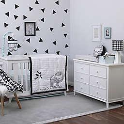 NoJo® Roar 4-Piece Crib Bedding Set in Black/White