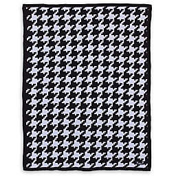 NoJo® Roar Houndstooth Knit Blanket in Black/White
