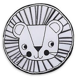 NoJo® Roar Lion's Head Round Throw Pillow in Black/White