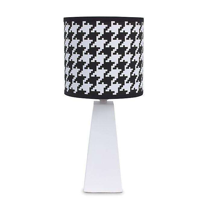 Alternate image 1 for NoJo® Roar Houndstooth Lamp Shade in Black/White