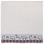 NoJo® Teepee Animal Embroidered Jacquard Knit Blanket in Navy/Red