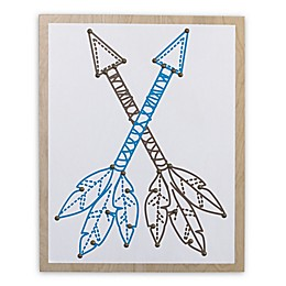 NoJo® Teepee Crossed Arrows Wall Art in Turquoise/Brown