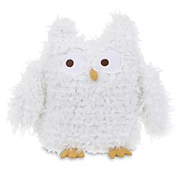 NoJo® Teepee Plush Furry Owl in White