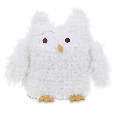 NoJo® Teepee Plush Furry Owl in White