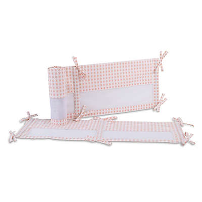 carter's® Woodland Meadow 4-Piece Secure-Me Crib Liner in Peach/White