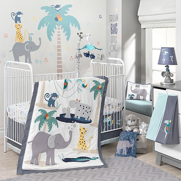Alternate image 1 for Lambs & Ivy® Animal Crackers 4-Piece Crib Bedding Set