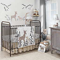 Lambs & Ivy® Meadow Deer Crib Bedding Collection in Tan/White