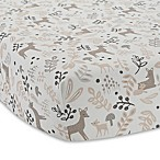 Lambs & Ivy® Meadow Deer Fitted Crib Sheet in Tan/White