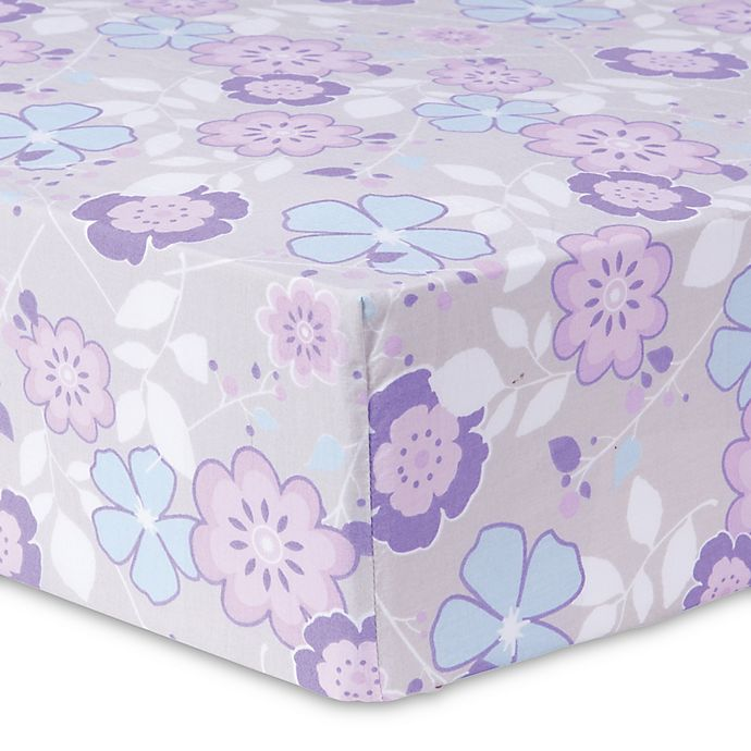 Alternate image 1 for Trend Lab® Grace Floral Fitted Crib Sheet