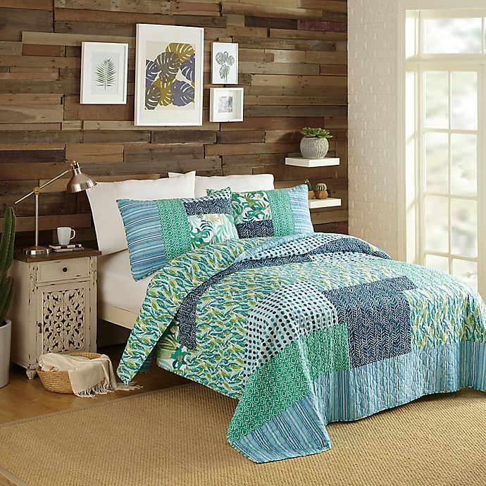 Alternate image 1 for Justina Blakeney by Makers Collective Native Springs King Quilt Set in Blue