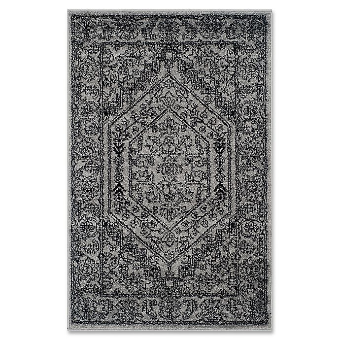 Alternate image 1 for Safavieh Adirondack 2-Foot 6-Inch x 4-Foot Accent Rug in Silver/Black