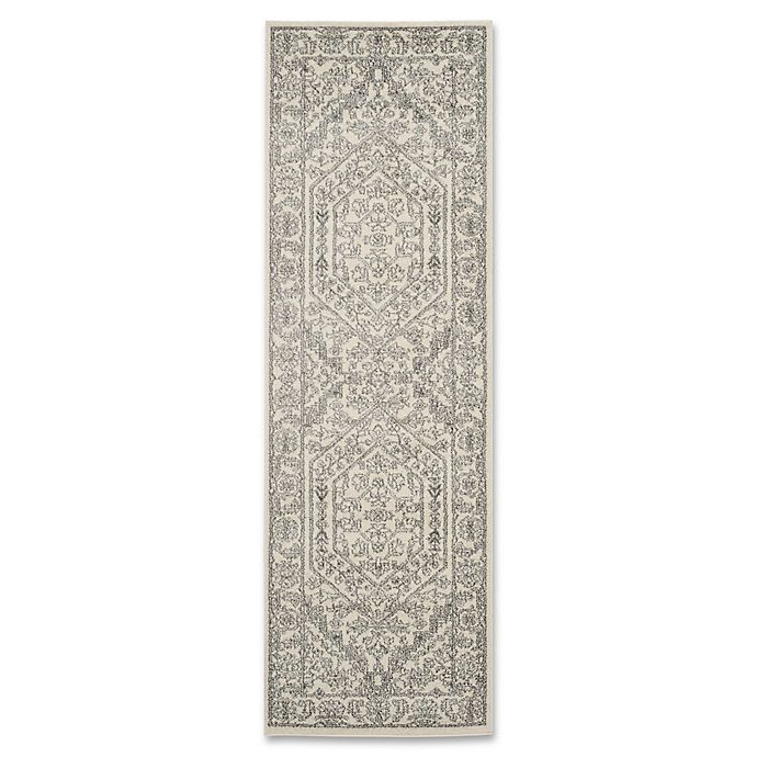 Alternate image 1 for Safavieh Adirondack 2-Foot 6-Inch x 16-Foot Runner in Ivory/Silver