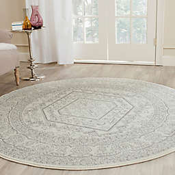 Safavieh Adirondack 4-Foot Round Accent Rug in Ivory/Silver