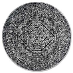 Safavieh Adirondack 6-Foot Round Area Rug in Silver/Black