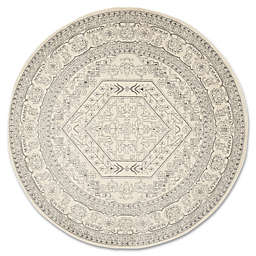 Safavieh Adirondack 6-Foot 7-Inch Round Area Rug in Ivory/Silver