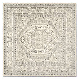 Safavieh Adirondack 6-Foot 7-Inch Square Area Rug in Ivory/Silver