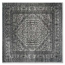 Safavieh Adirondack 8-Foot Square Area Rug in Silver/Black