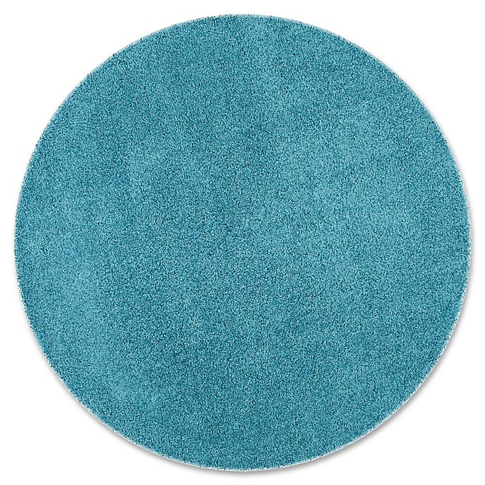Alternate image 1 for Safavieh Laguna 6-Foot 7-Inch Round Shag Rug in Turquoise