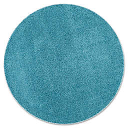 Safavieh Laguna 6-Foot 7-Inch Round Shag Rug in Turquoise