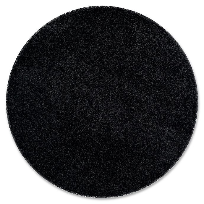 Alternate image 1 for Safavieh Laguna Shag 6-foot7-Inch Round Rug in Black