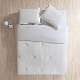 VCNY Home Gabriella Plush Metallic 2-Piece Twin/Twin XL Comforter Set in White/Gold
