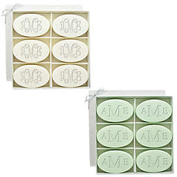 Carved Solutions 6-Pack Signature Spa Inspire Monogrammed Oval Bar Soap