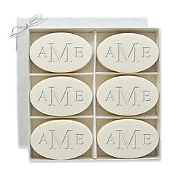 Carved Solutions 6-Pack Signature Spa Inspire Monogrammed Oval Aqua Mineral Bar Soap