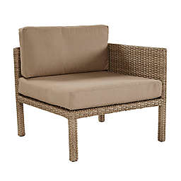 All-Weather Wicker Aluminum Woven Dual End Chair in Light Brown