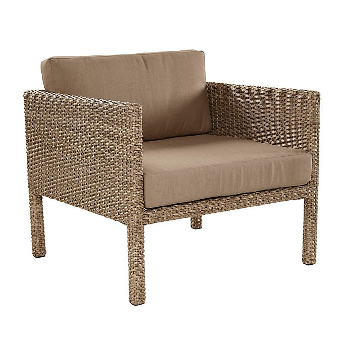 Alternate image 1 for All-Weather Wicker Aluminum Woven Single Chair in Light Brown